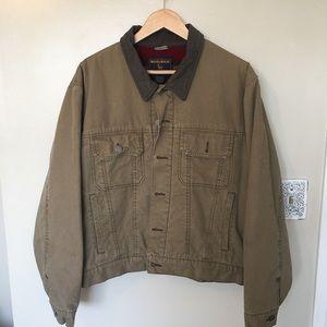 Woolrich Outdoor Dark Wheat Bomber Jacket Size M
